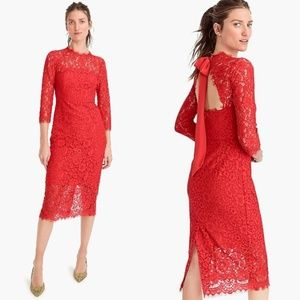 J. Crew Long Sleeve Lace Sheath Dress